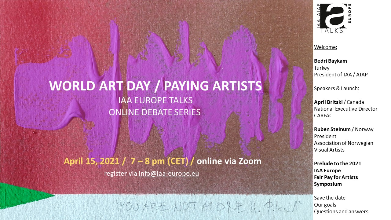 invitation IAA Talks World Art Day